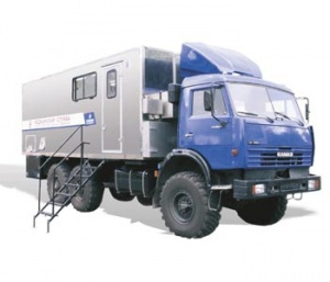 Mobile dental room on the base of vehicle KAMAZ-43118