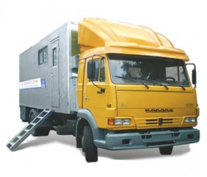 Mobile dental room on the base of vehicle KAMAZ-4308