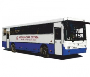 Mobile post for blood collecting (MPBC) on the chassis of the bus NEFAZ 5299-17